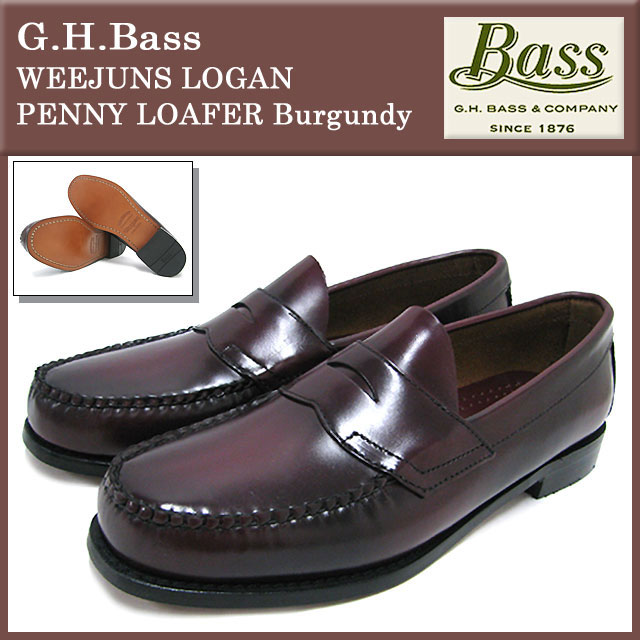 ead5fa42163 G... H... bus G.H.Bass loafers weejuns Logan penny loafers Burgundy mens  (g.h.bass G.H.BASS WEEJUNS LOGAN PENNY LOAFER Burgundy loafer geremi Chivas  loafer ...