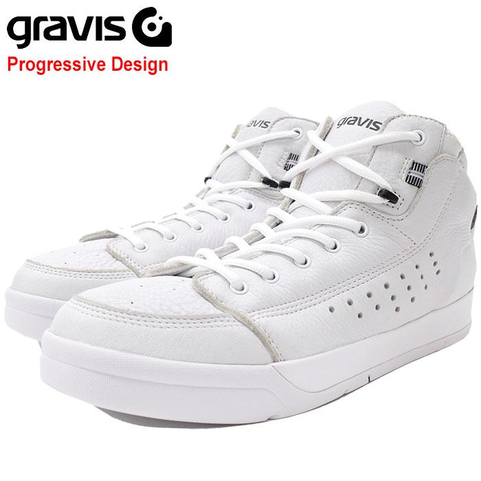 グラビス gravis スニーカー メンズ 男性用 ターマック ハイカット DLX White/Black(gravis TARMAC HC DLX Progressive Design ホワイト 白 SNEAKER MENS・靴 シューズ SHOES 01010-0002)