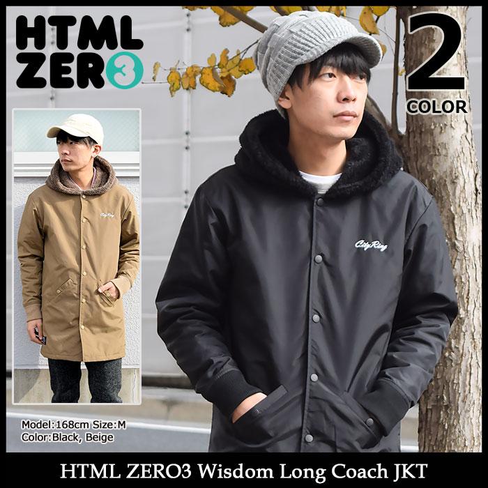 エイチティエムエル ゼロスリー HTML ZERO3 ジャケット メンズ ウィズダム ロング コーチジャケット(html zero3 Wisdom Long Coach JKT ナイロンジャケット JACKET JAKET アウター コーチ ジャンパー・ブルゾン エイチティーエムエル HTML-JKT190)
