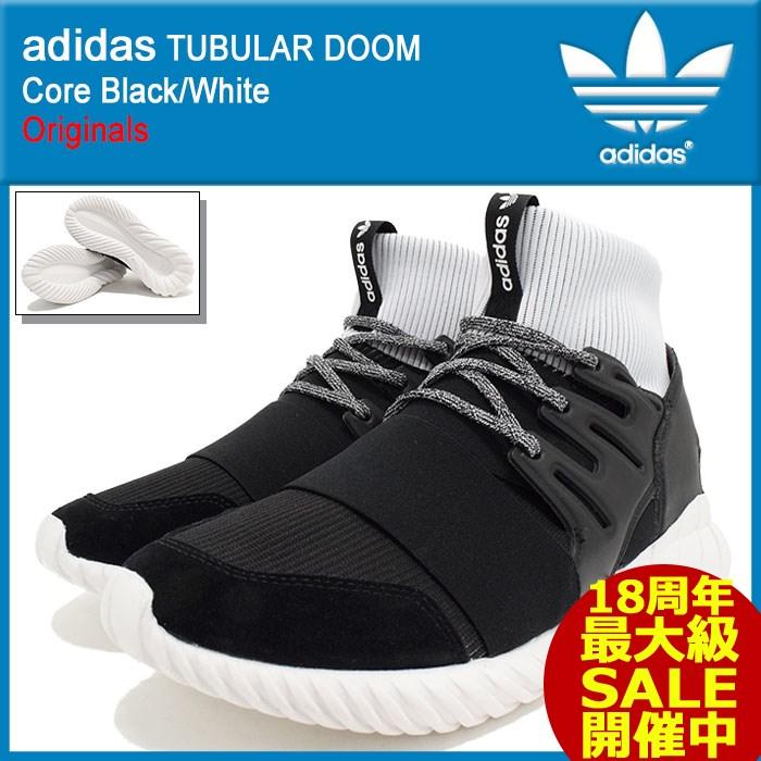 アディダス adidas スニーカー メンズ 男性用 チュブラー ドゥーム Core Black/White オリジナルス(adidas TUBULAR DOOM Originals チューブラー ブラック 黒 SNEAKER MENS・靴 シューズ SHOES BA7555)