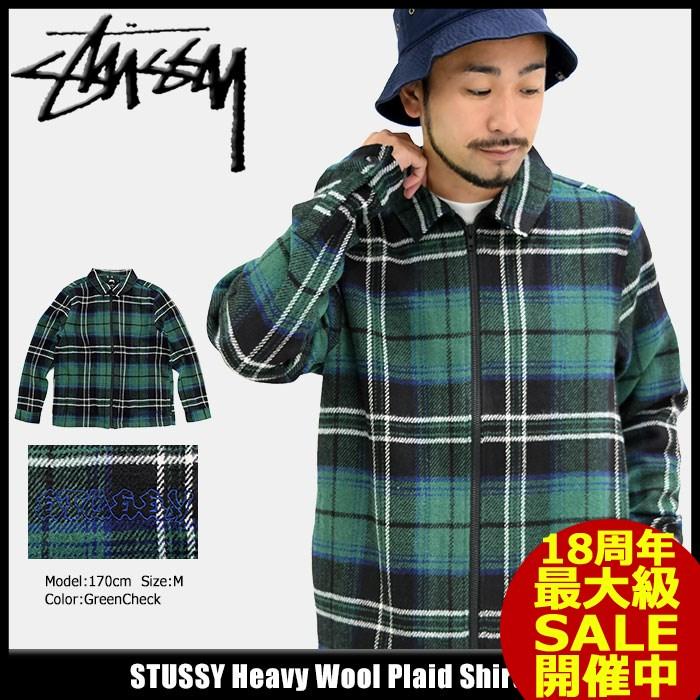 ステューシー STUSSY ジャケット メンズ Heavy Wool Plaid Shirt(stussy JKT シャツジャケット JACKET JAKET アウター ジャンパー・ブルゾン メンズ・男性用 111945 USAモデル 正規 品 ストゥーシー スチューシー) ice filed icefield