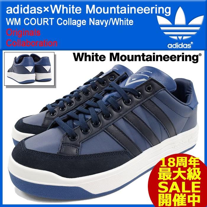アディダス オリジナルス×White Mountaineering adidas Originals スニーカー メンズ 男性用 WM コート Collage Navy/White コラボ(WM COURT ホワイト マウンテニアリング ネイビー 紺 靴 シューズ SHOES S81913)
