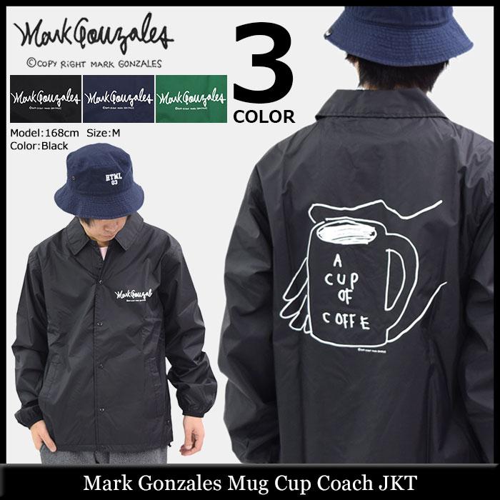 マーク ゴンザレス Mark Gonzales ジャケット メンズ マグカップ コーチジャケット(Mug Cup Coach JKT ナイロンジャケット JACKET JAKET アウター コーチ マークゴンザレス マーク・ゴンザレス スケボー sk8 スケーター 男性用 MG18S-B03)