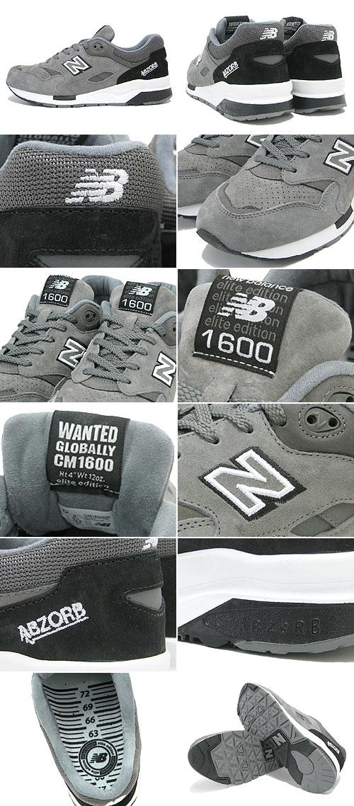 新平衡新平衡运动鞋 CM1600 MK 灰色最想包-男人 (男性的) (NEWBALANCE CM1600 MK 灰色最想包运动鞋运动鞋运动鞋男装鞋鞋鞋运动鞋 CM1600-MK)