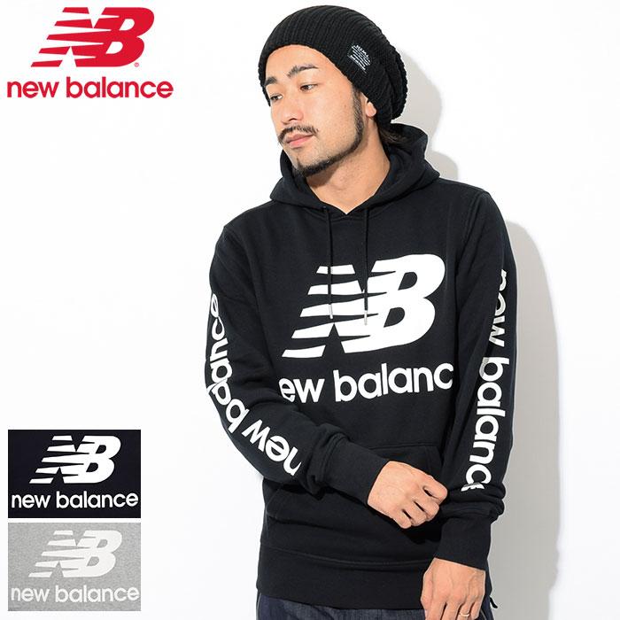 New Balance new balance pullover parka men NB logo (MT83586 for the new balance NB Logo Pullover Hoodie フードフーディスウェット Pull Over Hoody Parker tops men