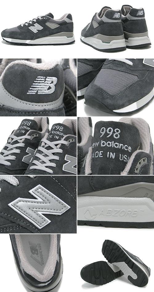新平衡new balance运动鞋M998 CH Charcoal佣人界内USA人(男性用)(NEWBALANCE M998 CH木炭Made in USA Sneaker sneaker SNEAKER MENS、鞋鞋SHOES运动鞋M998-CH)ice filed icefield