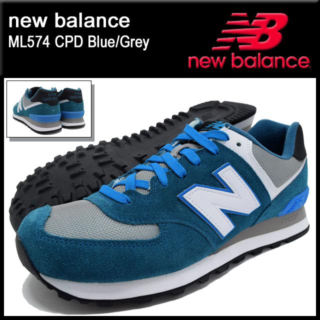 new balance 574 blue gray
