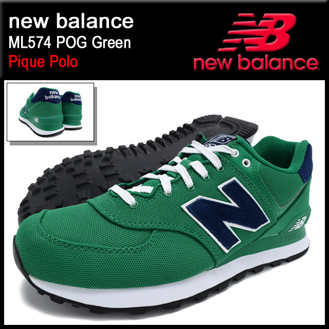 half off c6230 9fc42 New balance new balance sneakers ML574 POG Green Pique Polo-men (men's)  (NEWBALANCE ML574 POG green Pique Polo Sneaker sneaker SNEAKER MENS-shoes  ...