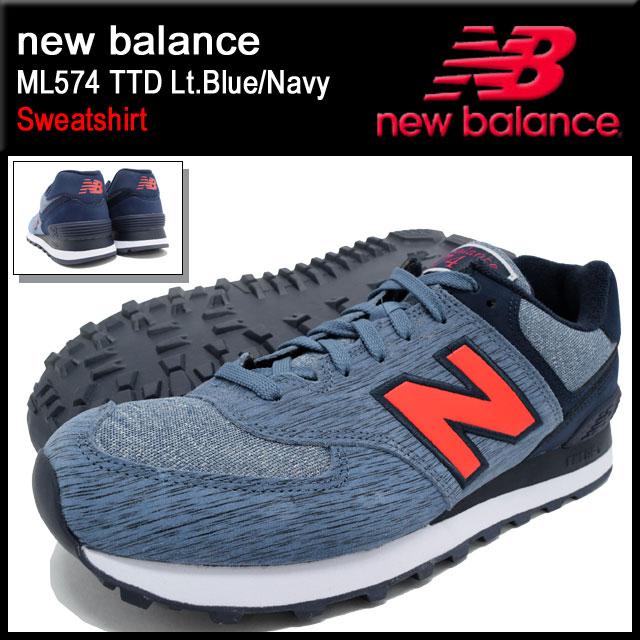 新平衡新平衡运动鞋男装 ML574 TTD 光蓝色 / 海军汗水衬衫 (NEWBALANCE ML574 TTD Lt.Blue/Navy 运动衫运动鞋男装鞋鞋鞋 ML574 TTD) 冰提起的冰原