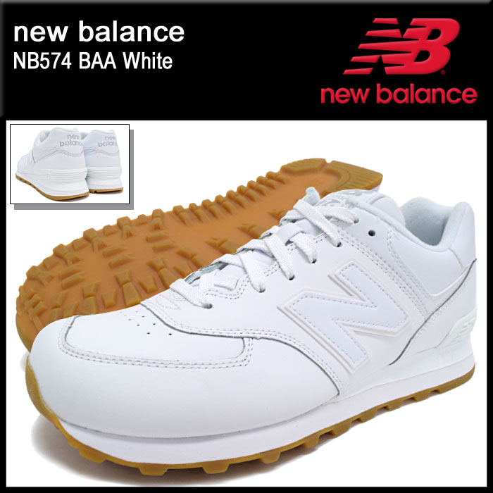 hot sale online 29b9c f10a1 NB574 BAA White(NEWBALANCE NB574 BAA white white SNEAKER MENS, shoes shoes  SHOES NB574-BAA) ice filed icefield for the New Balance new balance ...