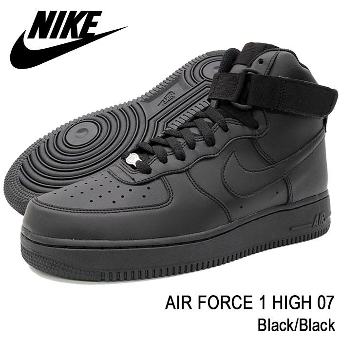 Air force 1 high 07 BlackBlack(nike AIR FORCE 1 HIGH 07 air force 1 black black SNEAKER MENS, shoes shoes SHOES 315,121 032 for the Nike NIKE
