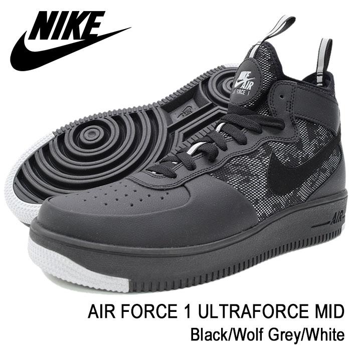 nike air force 1 ultraforce mid trainer black / wolf grey / camo