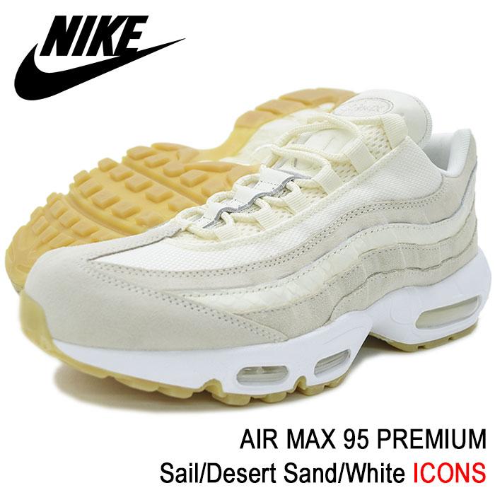 Nike Air Max 95 Premium Sail Sail Desert Sand, Mens Nike