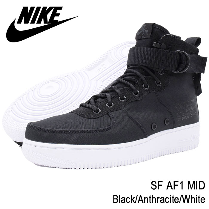 ナイキ NIKE スニーカー MENS・靴 メンズ 男性用 SF AF1 SPECIAL ミッド Black MID/Anthracite/White(nike SPECIAL FIELD AIR FORCE 1 MID スペシャル フィールド エアフォース1 ブラック 黒 SNEAKER MENS・靴 シューズ SHOES 917753-006), 碇ヶ関村:f9e82ca5 --- sayselfiee.com