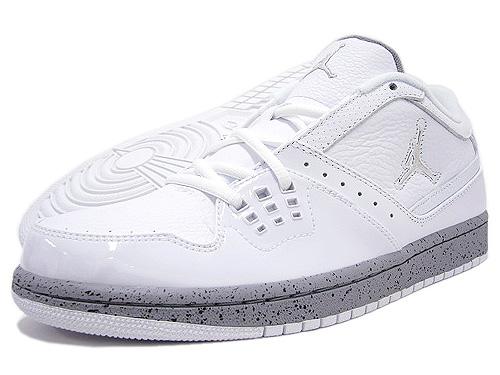 2d16ea39453 ... NIKE (Nike) AIR JORDAN 1 FLIGHT LOW White/Metallic Silver BRAND JORDAN  ice ...