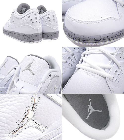 12dbbfa8afd ... NIKE (Nike) AIR JORDAN 1 FLIGHT LOW White/Metallic Silver BRAND JORDAN  ice