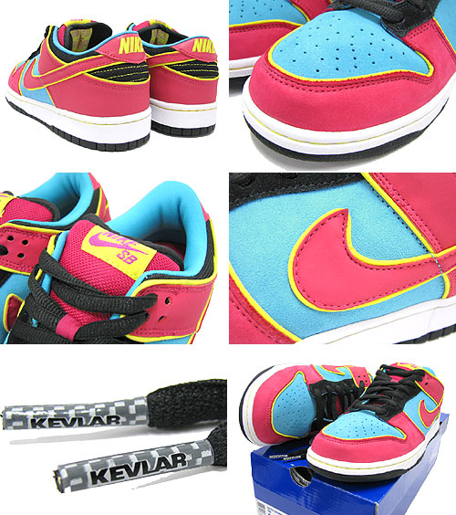 d3f4e2bbb124 NIKE (Nike) DUNK LOW PREMIUM SB Chlorine Blue Cerise Ms.PACMAN ice filed  icefield
