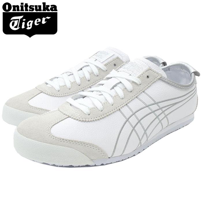 オニツカタイガー Onitsuka Tiger スニーカー メンズ 男性用 メキシコ 66 White/Silver(Onitsuka Tiger MEXICO 66 ホワイト 白 SNEAKER MENS・靴 シューズ SHOES 1183A349-100), 靴通販の岡本屋履物店 c16d5af1