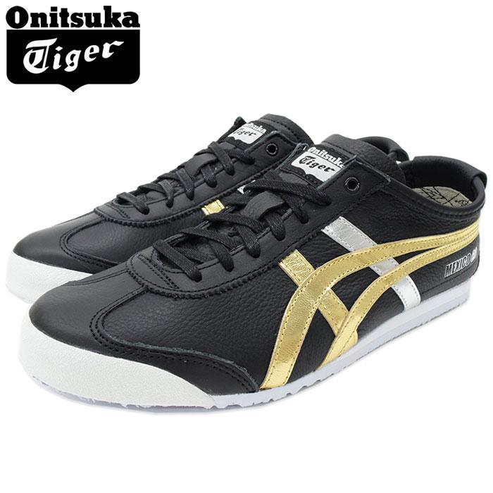 オニツカタイガー Onitsuka Tiger スニーカー メンズ 男性用 メキシコ 66 Black/Gold(Onitsuka Tiger MEXICO 66 ブラック 黒 SNEAKER MENS・靴 シューズ SHOES D5V2L-9094)