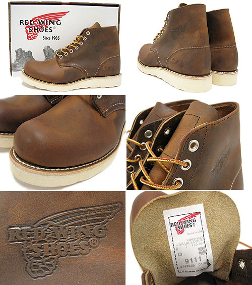 Redwing RED WING 9111 6-inch plain to boots vintage leather Irish setter men (men for men) (red wing REDWING Red Wing wing BOOTS boots Red Wing Red-Wing work boots shoes & boots)