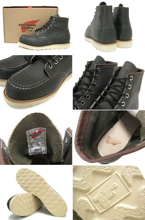 Redwing RED WING 8890 6 inch moccasin to boots Charcoal leather MADE IN USA Irish setter men (men for men) (red wing REDWING Red Wing wing BOOTS boots Red Wing Red-Wing work boots shoes & boots)