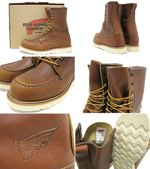Redwing RED WING 877 8-inch moccasin to boots brown leather MADE IN USA Irish setter men (men for men) (red wing REDWING Red Wing wing BOOTS boots Red Wing Red-Wing work boots shoes & boots)