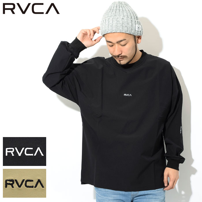 ルーカ RVCA カットソー 長袖 メンズ スモール ニュー ワールド(RVCA Small New World L/S Crew ビッグシルエット オーバーサイズ トップス メンズ 男性用 AJ041-060) ice filed icefield