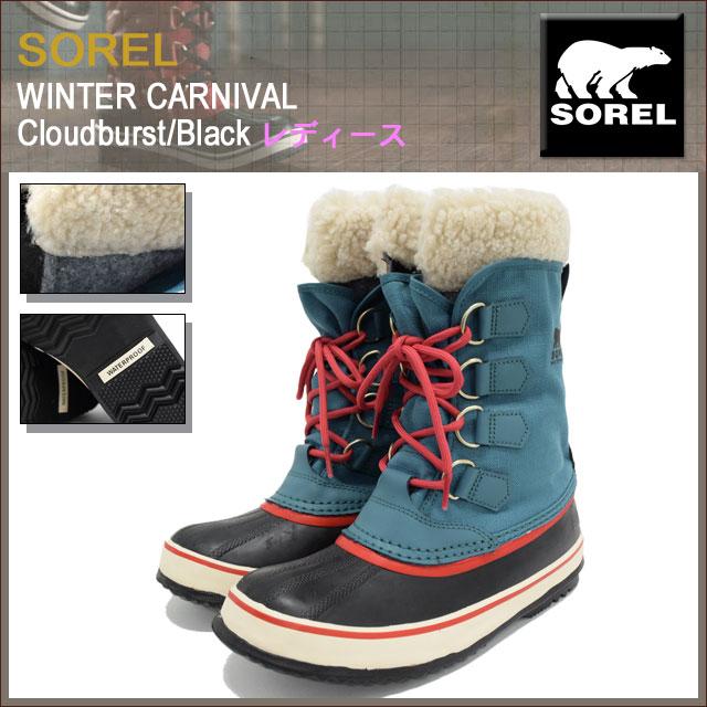 eb142be64ee ... Sorel SOREL boots Womens women's Winter Carnival Cloudburst/Black women  (Sorel WINTER CARNIVAL WOMENS ...