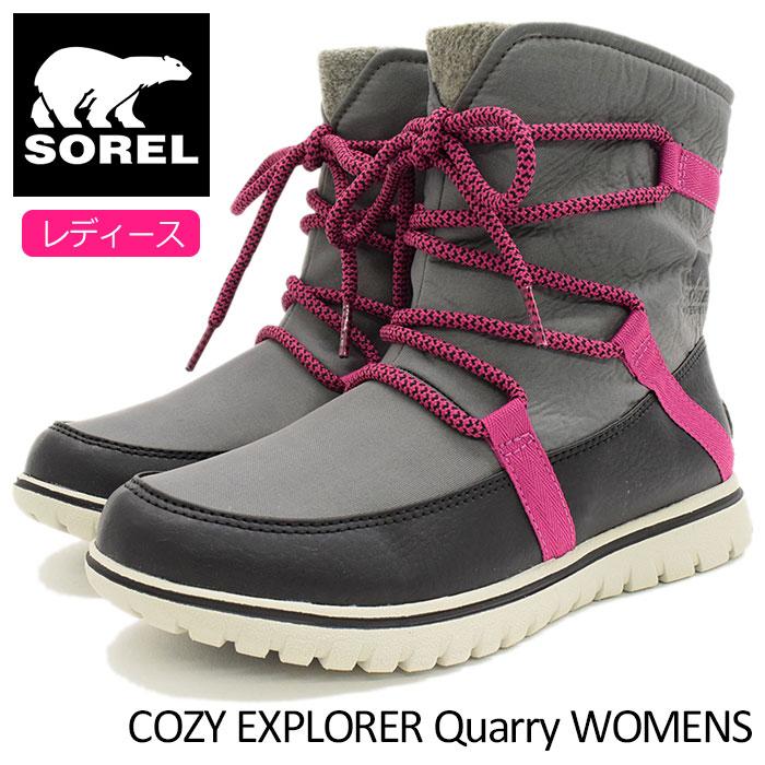 【20%OFF】ソレル SOREL ブーツ レディース 女性用 コージー エクスプローラー Quarry ウィメンズ(Sorel COZY EXPLORER WOMENS 防水 Boot Boots スノー・ブーツ ウィンター・ブーツ 靴・ブーツ soreru Ladys ウーマンズ グレー 灰 NL2744-052)