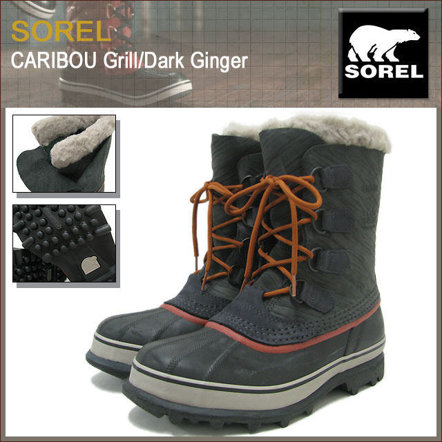 8136d8f3bd250 ... Sorel SOREL boots caribou Grill/Dark Ginger men for men (Sorel CARIBOU  Grill/ ...