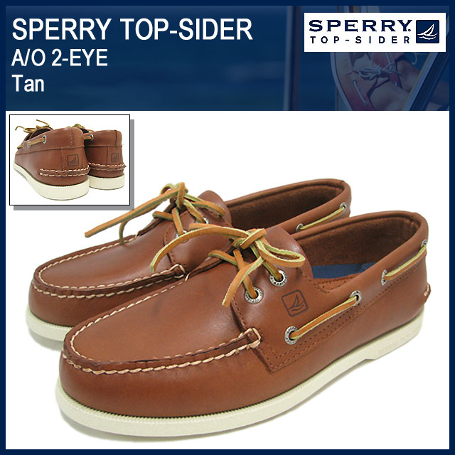 Sperry Top cider SPERRY TOP-SIDER authentic original 2 eye Tan men's men  (0532002 sperry top-sider A/O EYE Tan deck shoes boat shoes low cut leather  Deck ...