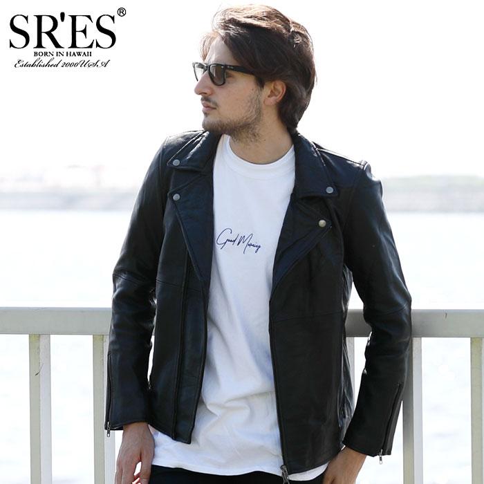 エスアールエス SRES ジャケット メンズ ダブル レザー(SRS Double Leather JKT レザージャケット 本革 JACKET JAKET アウター ジャンパー・ブルゾン プロジェクトエスアールエス JKT00662) ice filed icefield