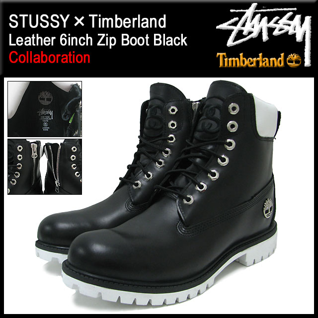 138283 ステューシー STUSSY X Timberland 6 inches premium boots black  collaboration men (STUSSY X Timberland Timberland 6inch Premium Boot Black  W name ... 8d72988a551d