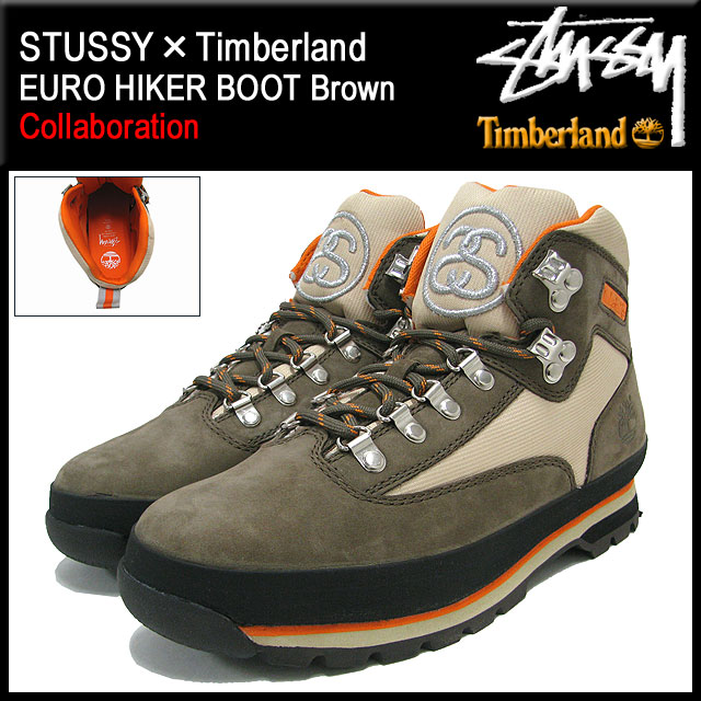 7e7d056fb7d Stussy STUSSY×Timberland euro hiker boots Brown collaboration with men (the  STUSSY×Timberland Timberland EURO HIKER BOOT Brown W name 6238A Stussy ...