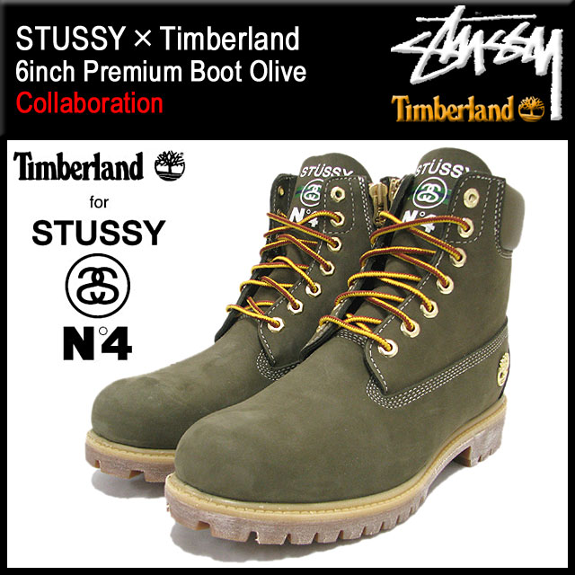 sports shoes 31d7b d509d ... 138283 ステューシー STUSSY X Timberland 6 inches premium boots olive  collaboration men (STUSSY X Timberland ...