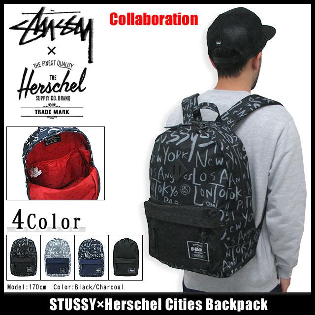 133007 Stussy stussy Stu sheath Zhu Xi) ice filed icefield for ステューシー STUSSY  X Herschel Cities backpack collaboration (stussy backpack bag rucksack ... 58be24f9dbe92