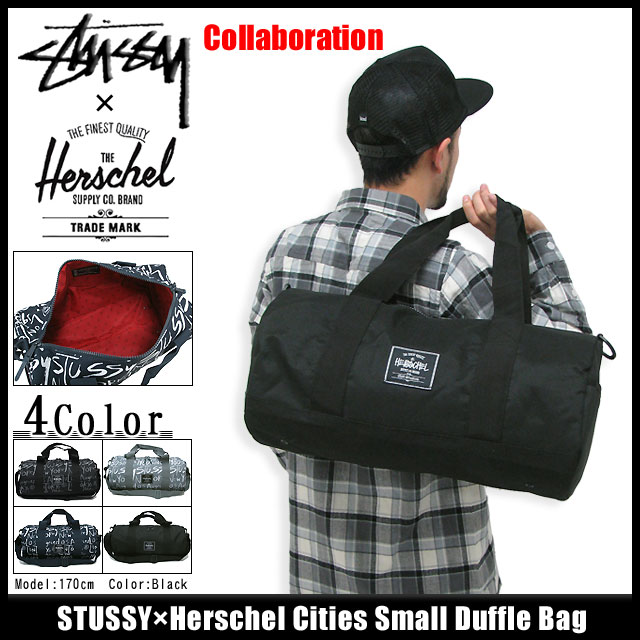 134108 Stussy Stu Sheath Zhu Xi Ice Filed Icefield For ステューシー X Herschel Cities Small Duffel Bag Collaboration Duffle