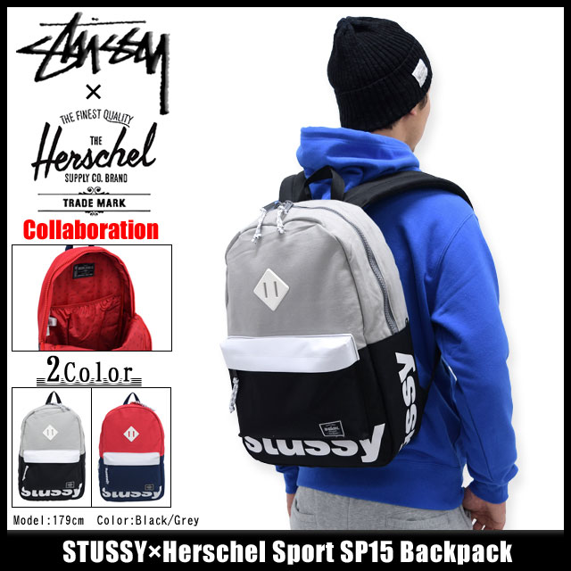 665909f629f Stussy STUSSY×Herschel Sport SP15 backpack collaboration (stussy backpack  bag rucksack back Daypack Bag day Pack Herschel W name men-men s 133009  Stussy ...