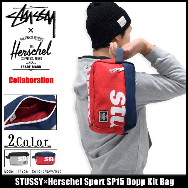 Stussy Bag Collaboration With Herschel Sport Sp15 Dopp Kit Pouch W Names Men En S 134113