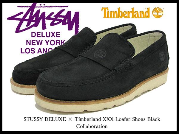 19f86411f39a 4038020 ステューシー STUSSY X Timberland XXX loafer shoes black nubuck  collaboration men (men s for men) (stussy X timberland Timberland W name STUSSY  X ...