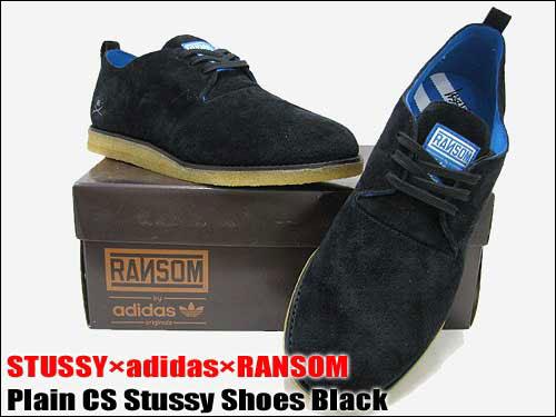 260d35907612 ステューシー STUSSY X adidas X RANSOM plane CS ステューシーシューズブラックトリプルコラボメンズ (male  men s stew she) (stussy X adidas X ransom Adidas ...