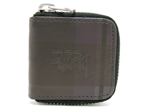 STUSSY (Stussy) Black Plaid Coin Case ice filed icefield