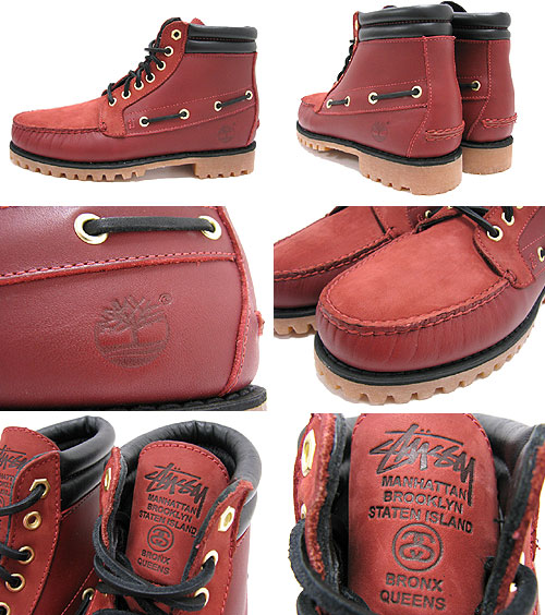 new product d463c e7127 ... 7 STUSSY( ステューシー) X Timberland Eye Chukka Boot Red Brown collaboration  NYC Limited ice