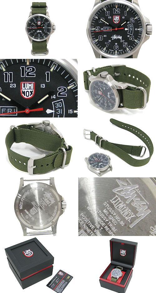 冰原 (stussy 手表双重名字男装手表,男人的 0380248 steussie 配件) Stussy STUSSY × 拿野战军手表协作冰提起