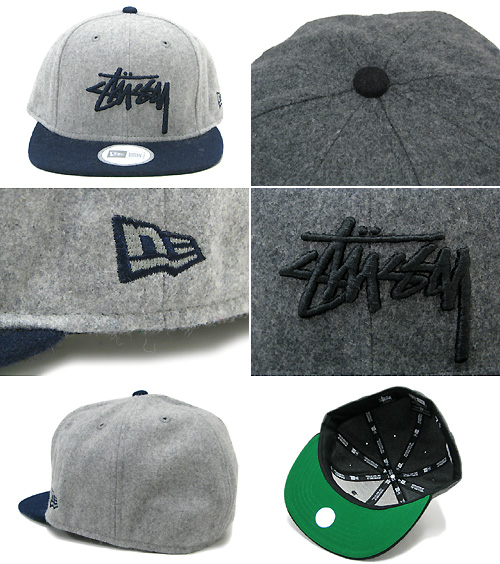 bd9967997ff 031815 stew sea) ice filed icefield for 8 ステューシー STUSSY X NEW ERA Stock  Panel Fitted cap collaboration (stussy cap hat new era W name hats