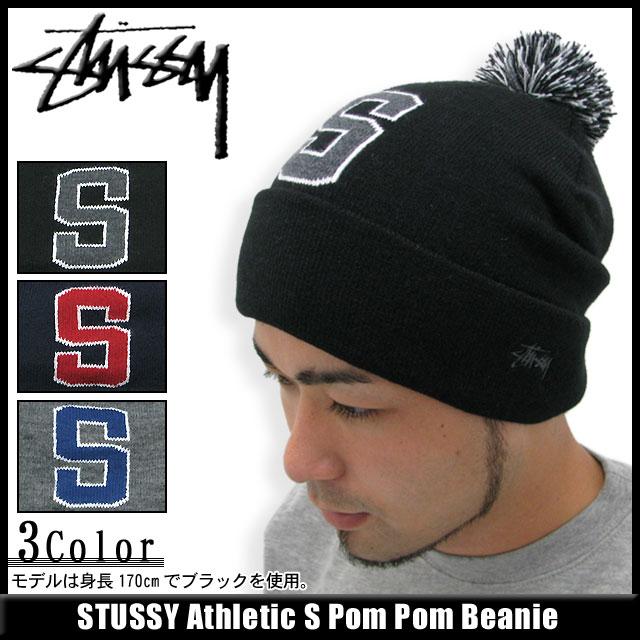 Stussy STUSSY Beanie Athletic S Pom Pom Beanie (stussy Stussy beanie knit  hats for men-men hats 890ac6302775