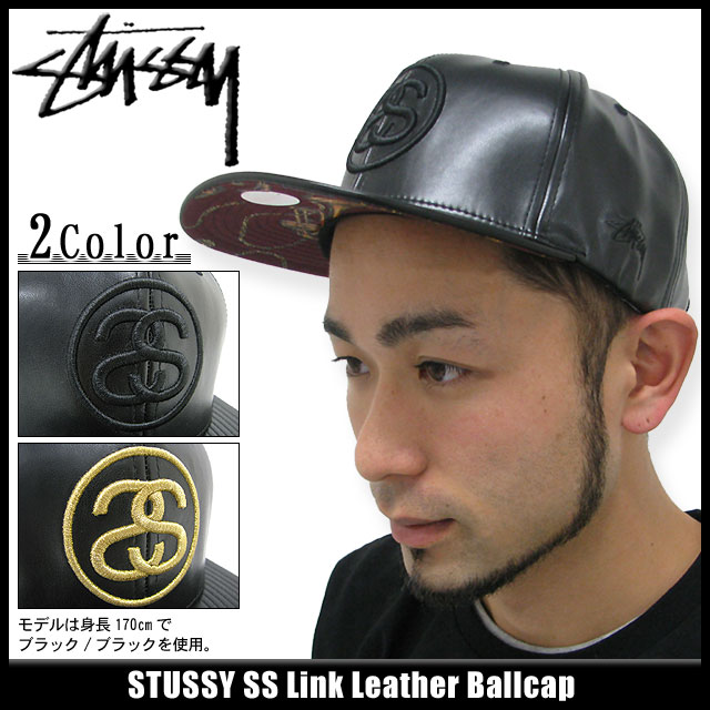 131258 hat bousi Stussy stussy Stu sheath Zhu Xi) ice filed icefield for  ステューシー STUSSY cap SS Link Leather cap (stussy Stussy cap cap men 936362d602f