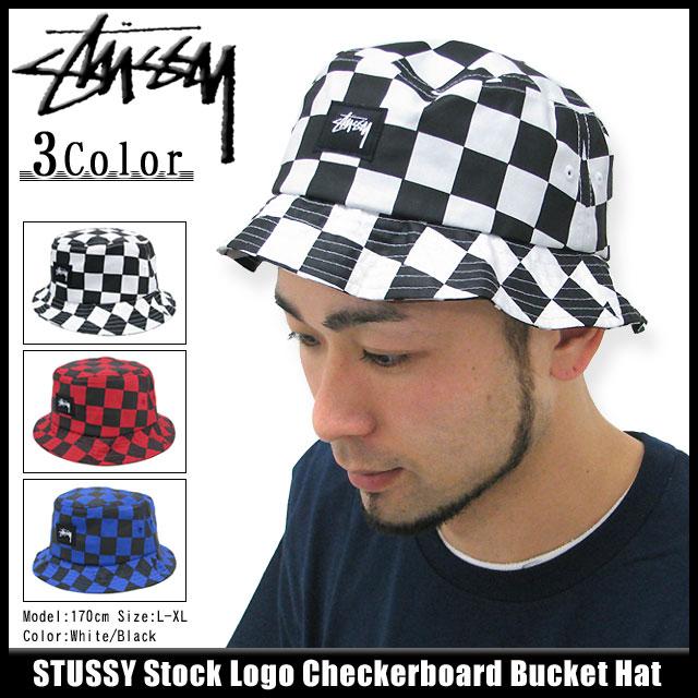 ステューシーSTUSSYStockLogoCheckerboardBucketハット(stussyhatStussyHATハットメンズ・男性用帽子bousi132527Stussystussyストゥーシースチューシー) b4b1e2d654c5
