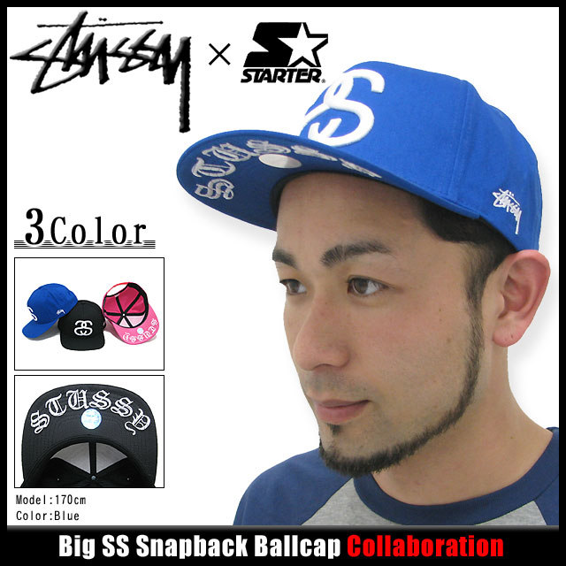 ffd7bbde26b Cap collaboration with Big SS Snapback Cap STUSSY×STARTER Stussy (stussy cap  Hat Snapback Starter W names men s and men s bousi 131293 Stussy stussy  Stussy ...