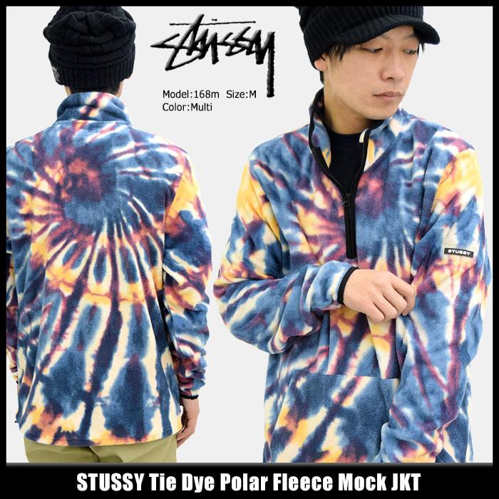 ステューシー STUSSY ジャケット メンズ Tie Dye Polar Fleece Mock(stussy JKT フリース タイダイ ハーフジップ プルオーバー JACKET JAKET アウター ジャンパー・ブルゾン メンズ・男性用 118258 USAモデル 正規 品 ストゥーシー スチューシー) ice filed icefield